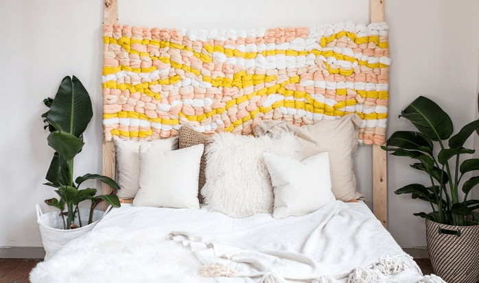Make a new DIY headboard to personalize your room